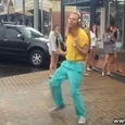Man Dancing on the Street