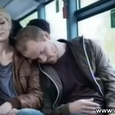 Sleeping Man in Bus