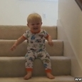 Hilarious Baby Going Down Stairs