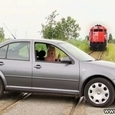 Prank With Car on The Rails