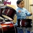 Two Year Old Drum Kid
