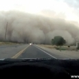 Driving Into Dust Storm