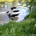 Pulling Car Out of River Epic Fail