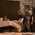 Funny Kids Tablecloth Trick Fail