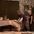 Funny Kids Tablecloth Trick Fail