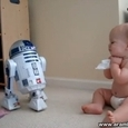 Baby Speaks With R2-D2