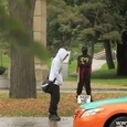 Hilarious Fight a Ninja Prank
