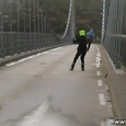 Norway Bridge During a Storm