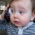 Funny Baby Answers a Phone Call