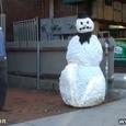 Hilraious Snowman Prank